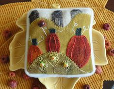 Pumpkin Hill pincushion pattern