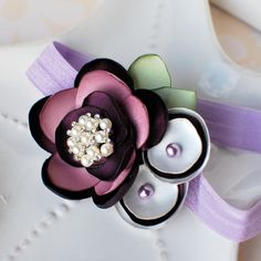 Purple Satin Flower Cluster Headband by MyLittlePixies on Etsy, $12.00