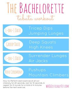 The Bachelorette   43 Workouts That Allow You To Watch An Ungodly Amount Of Television @jenjendm