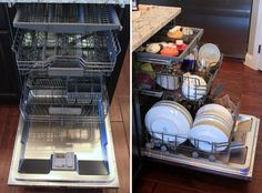 """Cool Thermador Dishwasher-- this kitchen has every appliance you never knew you wanted.  Even """"hospital"""" ice!"""