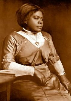 Mary McLeod Bethune, an educator and civil rights pioneer who founded the National Council of Negro Women and became the first African American woman to head a US federal agency when she led the Division of Negro Affairs of the National Youth Administration. A trusted adviser to both President Franklin Roosevelt and Eleanor Roosevelt, she was not, however, the first African American woman to be pictured on a stamp. Any guesses on who that was?