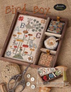 Bird Box is the title of this cross stitch pattrn from Jeanette Douglas.