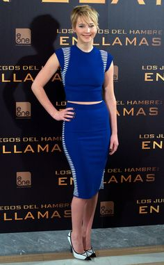Jennifer Lawrence at Madrid Photocall from Hunger Games: Catching Fire Premieres Around the World | E! Online