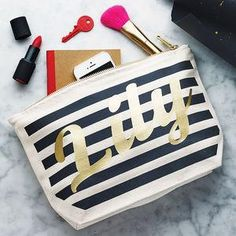 Personalised Stripe Make Up Case - Dreaming of a tropical getaway and all things summer holidays? Well, the weather folk have spoken — the sun is coming! Grab a fruit cup, lather on some sunscreen and indulge yourself with these glorious summer goodies.