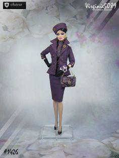 Tenue outfit + accessoires pour fashion royalty barbie silkstone vintage #1426