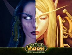Blood elf and night elf. I love the difference in bone structure.