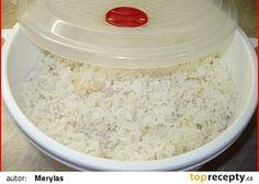 Vaření rýže v mikrovlné troubě recept - TopRecepty.cz Risotto Recipes, Main Meals, Tofu, Grains, Recipies, Salt, Treats, Recipes, Sweet Like Candy