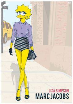 Lisa Simpson en Marc Jacobs Foto: Swagger New York