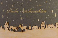 Eine sehr hochwertige und elegante Weihnachtskarte, die den Empfänger begeistert 🎄 Xmas, Movie Posters, Inspiration, Xmas Cards, Postcards, Weihnachten, Bazaar Ideas, Timber Wood, Biblical Inspiration