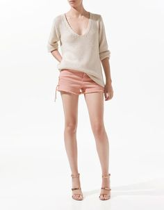 SEED STITCH JUMPER -ZARA United States  If only I had the legs for this!