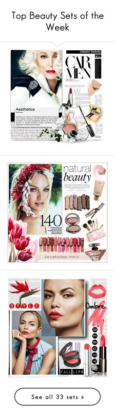 """Top Beauty Sets of the Week"" by polyvore ❤ liked on Polyvore featuring beauty, Givenchy, Elizabeth Arden, makeup, CelebrityStyle, CarmenDellOrefice, Urban Decay, NARS Cosmetics, Benefit and Lancôme"