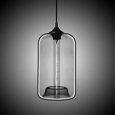 Shop for (In Stock) Modern Transparent Glass Pendant Light Hand Blown Colorful with 1 Light Silver Grey Color Dining Room Lighting Ideas Living Room Bedroom Lighting at Homelava.com with the lowest price and top service!