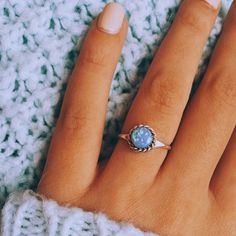 Thank you insta babe @ally.winn for sharing this pic of your @indieandharper Navajo Blue Opal Ring || Hope you love it Hun || Part of our 'Navajo' Collection www.indieandharper.com