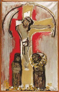 Szántó, Piroska (1913-1998)  Hungarian Christ   1968  Oil on canvas  Museum: Ferenczy Museum,   Szentendre, Hungary