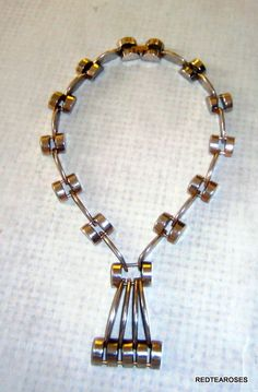 1930`s Jakob Bengel Necklace Art Deco Chrome