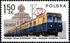 Sello: Electric train and Otwock Station, 1936 (Polonia) (Locomotives in Poland) Mi:PL 2399 Trains, Postage Stamp Collection, Electric Train, Stamp Collecting, Train Station, Locomotive, Postage Stamps, Image Search, Transportation
