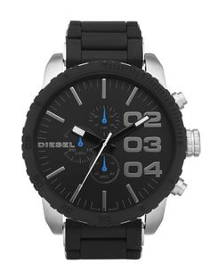 73c3a5959e Diesel DZ4255 Double down Black Stainless Chronograph men s Watch Gents  Watches