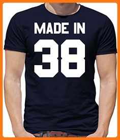 Made In '38 - Mens Crewneck T-Shirt- - 78th Birthday Navy 4XL (*Partner Link)