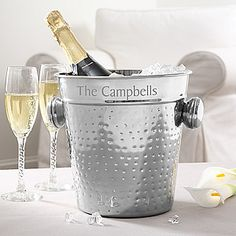 Stainless Steel Personalized Ice Bucket - 5359