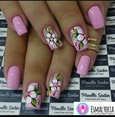 Try some of these designs and give your nails a quick makeover, gallery of unique nail art designs for any season. The best images and creative ideas for your nails. Spring Nail Art, Spring Nails, Spring Art, Early Spring, Cute Nail Art, Beautiful Nail Art, Nail Art Designs, Flower Nail Designs, Flower Nail Art