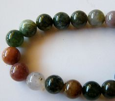 "Naturel 10 mm Black Agate Round Gemstone Beads Stretch Bracelet Jonc 7.5/"" AAA"