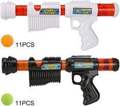 Double-Gun Foam Atomic Pump Action Air Popper for Child Birthday Christmas Gifts