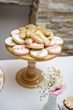 All That Glitters Is Gold themed 1st Birthday Party via Kara's Party Ideas KarasPartyIdeas.com #goldandmintparty #goldd...