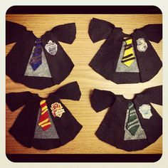 Harry Potter Theme name tags. Could be made with paper instead of fabric!