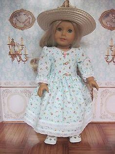 Handmade-Edwardian-Garden-Party-dress-for-American-Girl-or-other-18-dolls 3rd Grade Social Studies, American Girl, 18th, Party Dress, Flower Girl Dresses, Dolls, Best Deals, Wedding Dresses, Garden