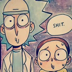 rick and morty- accurate fanart