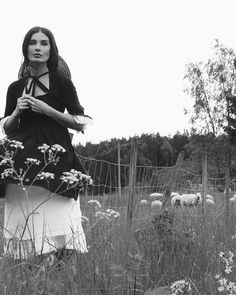 Our longtime muse @atrollmor of @sistersoftheblackmoon and @sevenmilemountain wears the black and white Pastorale in its natural habitat. #nuitclothing #ss17 #editorial #inspiration