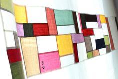 조각보 응용, '알록달록 광목조각 커튼' 조각보를 광목 커텐에 넣어본 '광목 조각 커튼'입니다. 요... Textile Art, Textiles, Quilts, Blanket, Blog, Colors, Design, Home Decor, Scrappy Quilts