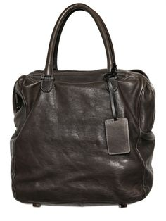 A BRAND APART - DOUBLE ZIP LEATHER BAG
