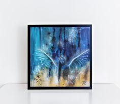 Abstract Angel Print from Angel Painting von TerraSomniaAngels auf Etsy Angel Art, Saturated Color, Abstract Styles, The Originals, Cover, Print Design, Etsy, Display, Ink