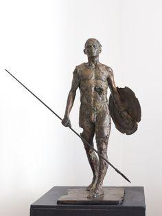 Guerrier II - Sculpture en bronze - 69 x 49 x 26 cm Chirstophe Charbonnel