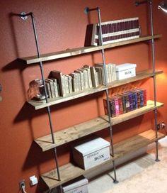 Custom built wall shelves on Craigslist
