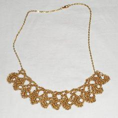 Κολιέ χειροποίητο με χρυσή αλυσίδα / Handmade golden necklace pendant lace - Fluffy Bunny e-shop Fluffy Bunny, Golden Necklace, Jewelry, Jewlery, Jewerly, Schmuck, Jewels, Jewelery, Fine Jewelry