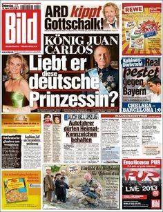 """En la TAPA de la revista alemana """"Bild"""" se preguntan: ¿Ama el rey de España a esta princesa?...uhuhuhu sobre Corinna Zu y el rey Juan Carlos I..."""