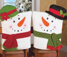 Oksale 2 PCS Christmas Snowman Hat Cap Chair Back Covers, Table Decor for Xmas Dinner Party Gift >>> We do hope you actually do like the photo. (This is our affiliate link) Snowman Decorations, Party Table Decorations, Festival Decorations, Christmas Decorations, Holiday Decor, Table Party, Christmas Snowman, Christmas Holidays, Christmas Crafts