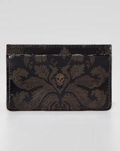 01328dc48a57  AlexanderMcQueen  Brogue  Skull  CardCase  Baroque  Black (Via   NeimanMarcus