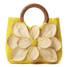Flower Tote Guadeloupe Yellow