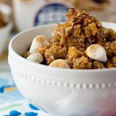 Spiced Sweet Potato   Brown Sugar Pecan Crumble Oatmeal Bowl
