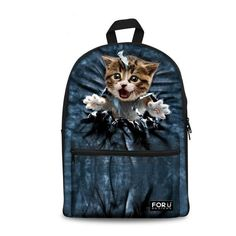 Preppy Style Animal Print Backpack