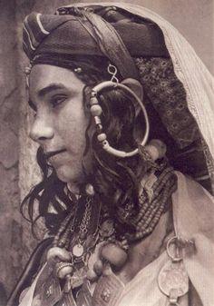 Africa   Jewish Berber, High Atlas, 1935. Postcard car image from Marrakech #berber #amazigh #tuareg #lifestyle