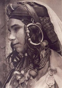 Africa | Jewish Berber, High Atlas, 1935. Postcard car image from Marrakech #berber #amazigh #tuareg #lifestyle