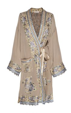 Taupe Reversible Silk Trench by Etro for Preorder on Moda Operandi