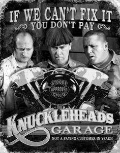 Stooges - Knuckleheads Placa de lata na AllPosters.com.br #harleydavidsonknucklehead