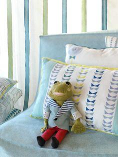 Aldeco Bowtie, Lollipops and Jolly fabric. Lollipops, Luxury Homes, Nova, Toddler Bed, Kids Room, Fabrics, Interior Design, Architecture, Inspiration