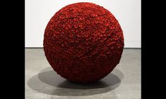Spherical perfection ... The Rose Table of Perfect (1988) by James Lee Byars Photograph: Institut Valencià d'Art Modern Generalitat/Milton Keynes Gallery/Andy Keate