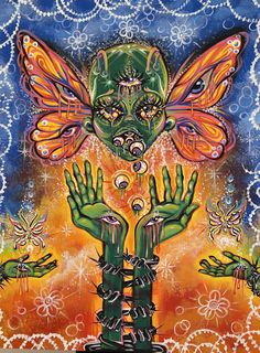 Art Journal Inspiration, Art Inspo, Pretty Art, Cute Art, Psychadelic Art, Hippie Painting, Images Esthétiques, Japon Illustration, Grunge Art
